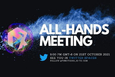 Summary of Function X All-Hands Meeting on 21st October 2021