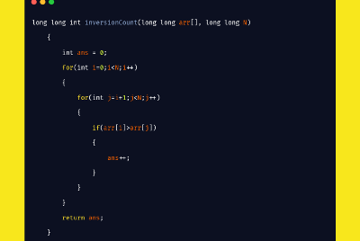 Count Inversion in an array using Merge Sort