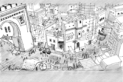 Interpreting Invisible Cities with Illustrations