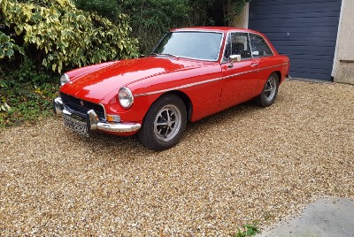 I've owned this MGB GT for 43 years—and she's called Scarlett