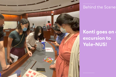Konti goes on an excursion to Yale-NUS!