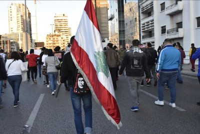 Hundred Lebanese protested over deterioration living conditions