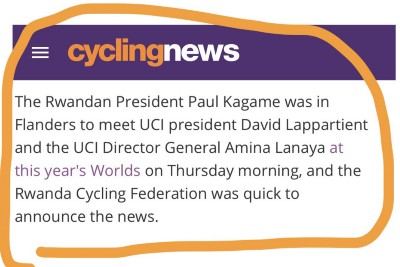 Kagame: Several news organizations are reporting that the Rwandan Strongman attended the 2021 UCI…