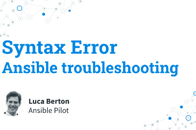 Ansible troubleshooting—Syntax Error
