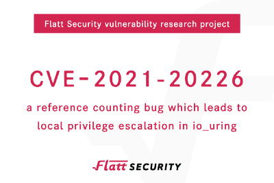 CVE-2021–20226 a reference counting bug which leads to local privilege escalation in io_uring.