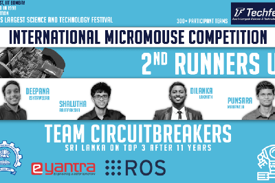 Team CircuitBreakers from Sri Lanka wins the second Runner Up in the first-ever virtual…