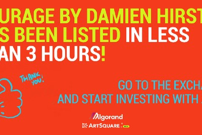 Courage by Damien Hirst has been listed in less than 3 hours!