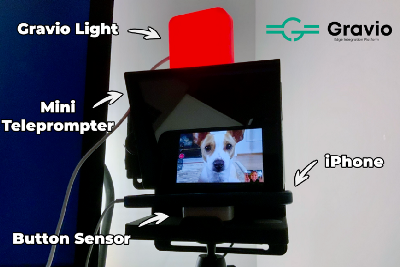 Building a TV Studio-like Video Call System at Home With a Teleprompter and On-Air Lights