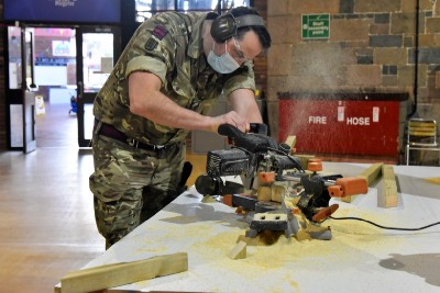 Reservists construct vaccination centre in Jersey