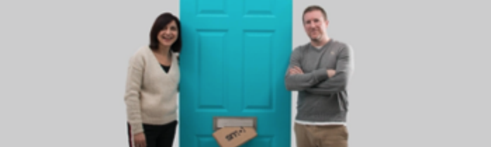 photo of Paula and Nick, founders of smol as they launched the company