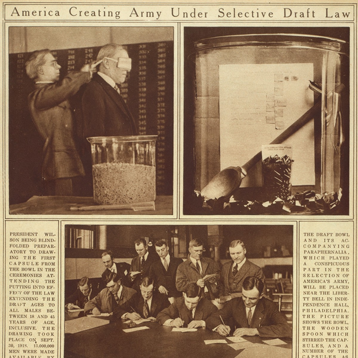Wwi And The Selective Service Act By Library Of Congress America And The Great War Medium
