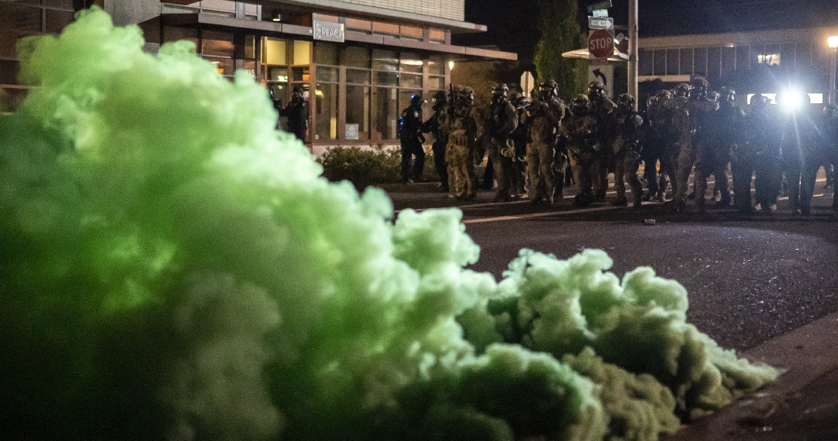 Scientists Identified a Green, Poisonous Gas Used by Federal Agents on Portland Protesters