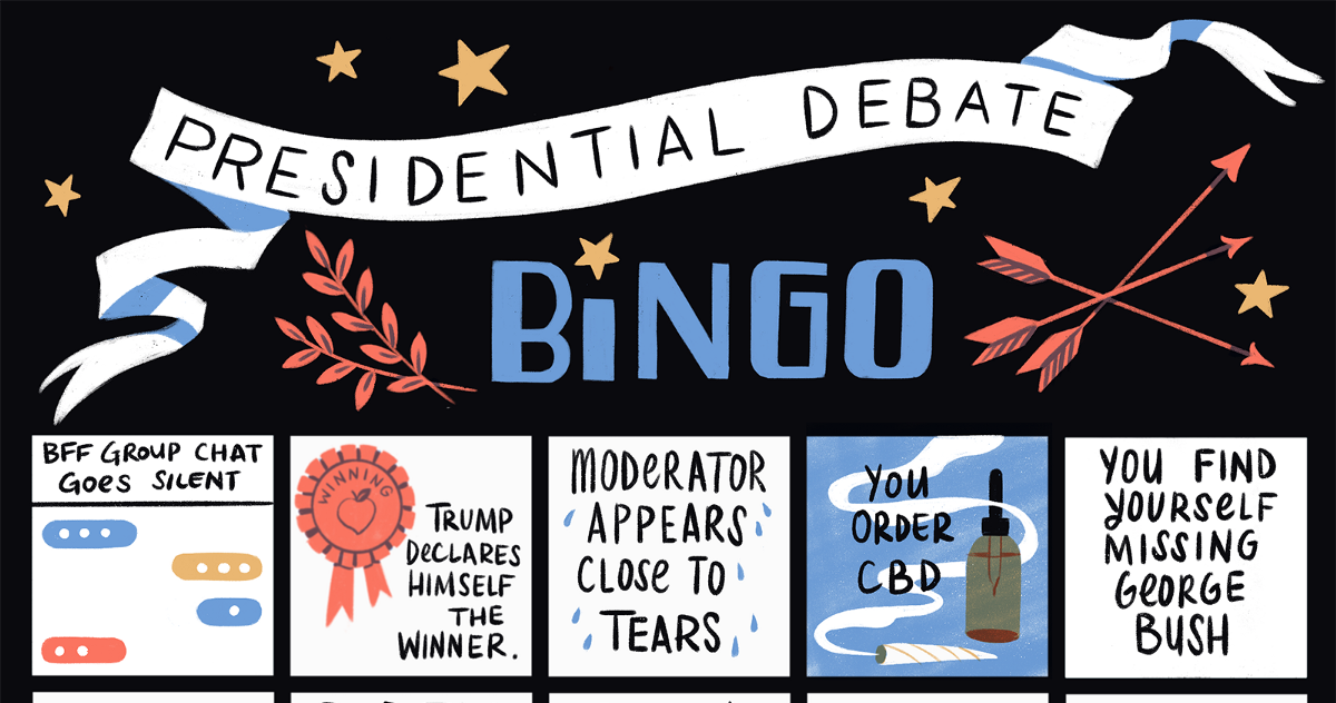 The 2020 Presidential Bingo Card (Or Drinking Game)