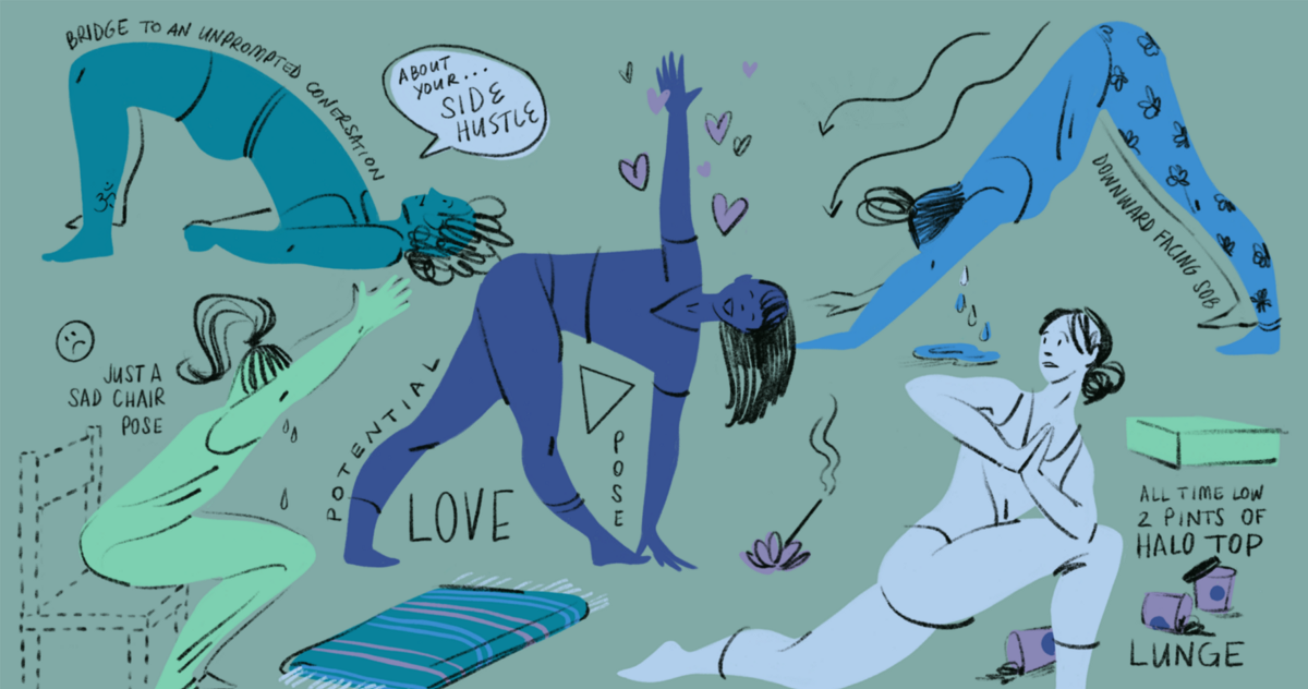 Yoga Poses for People Who've Been Single a While