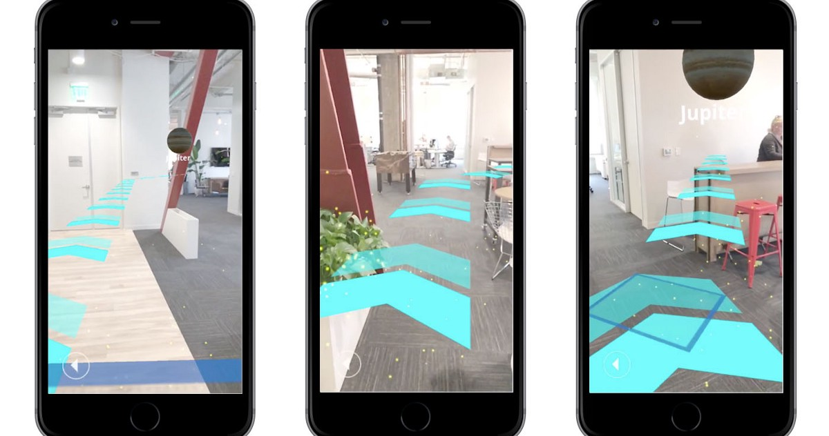 Indoor navigation in AR with Unity - Points of interest