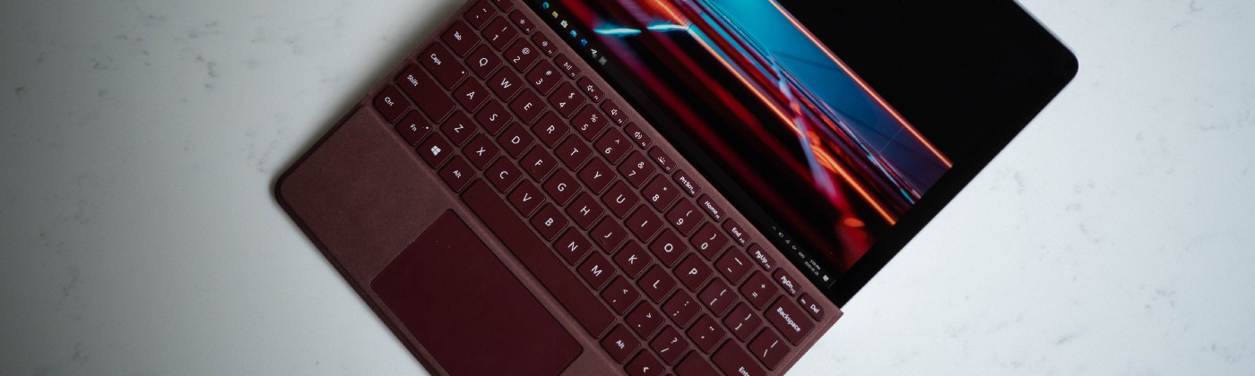 A top-down view of the Microsoft Surface Go 2.