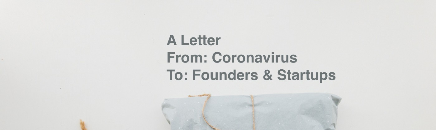 A letter with headline