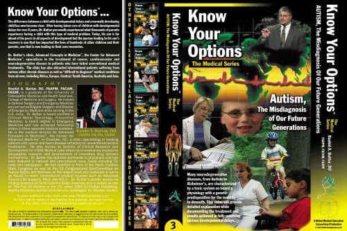 """The cover art for """"Know Your Options: AUTISM, The Misdiagnosis Of Our Future Generations"""", a film by Dr. Rashid Buttar."""