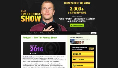 Tim Ferriss' podcast is long form interviews with high performers.