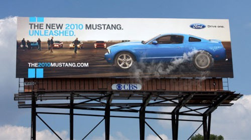 Ford Mustang Billboard Advertisement