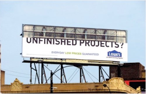 Unfinished projects Billboard Advertisement