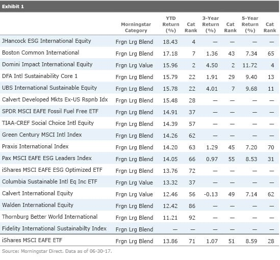 Sustainable investors have a range of international-stock fund choices