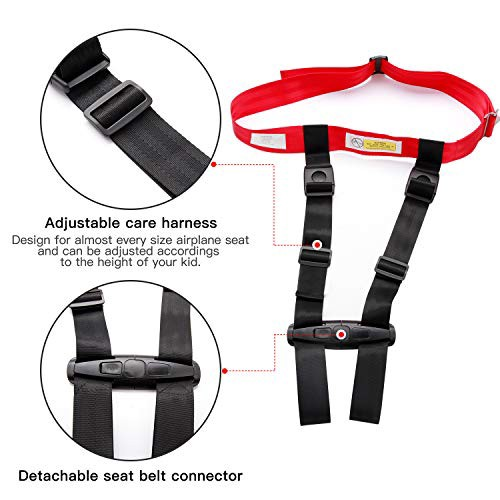 1 Child Airplane Travel Harness Safety Clip Strap Care Restraint System for Baby,Toddlers /& Kids