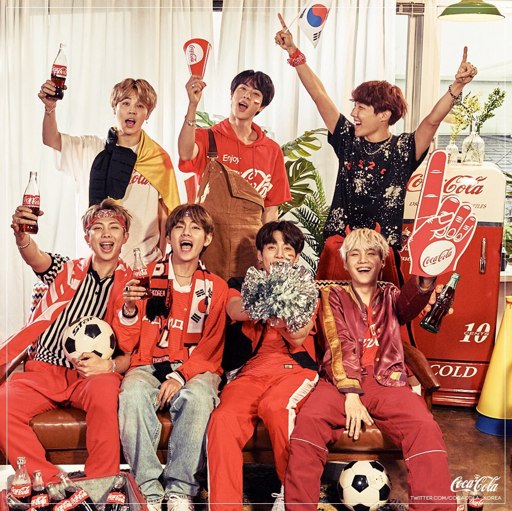 BTS drink Coca Cola