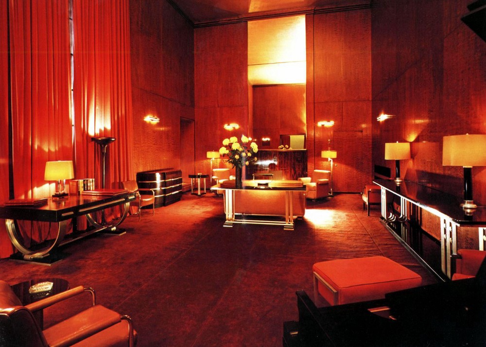 The Roxy Suite in Radio City Music Hall, furnished by Donald Deskey.