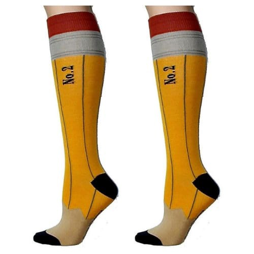 No.2 pencil socks teacher gifts student gift iwantthisandthat2