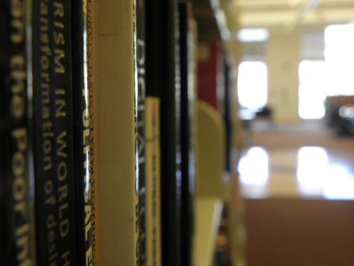 An image of library books