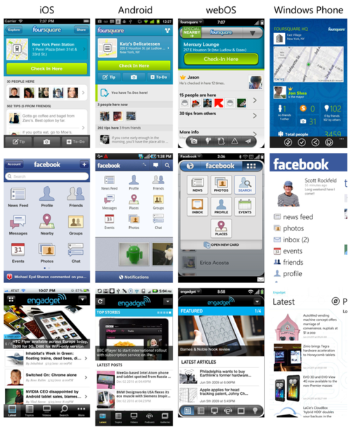 Apps on different platforms