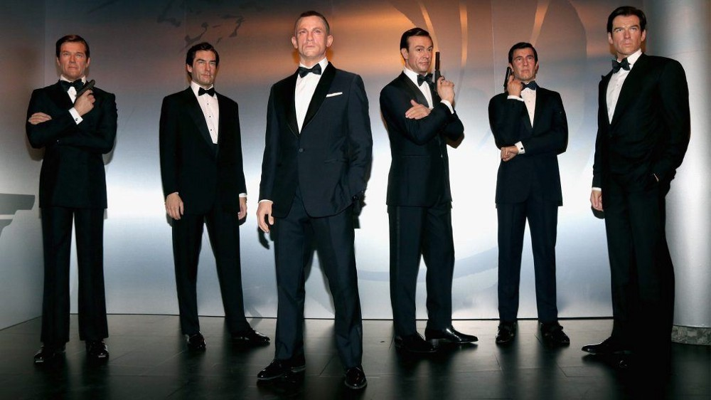 Waxdoll versions of the James Bond's at Madame Tussauds in Berlin.