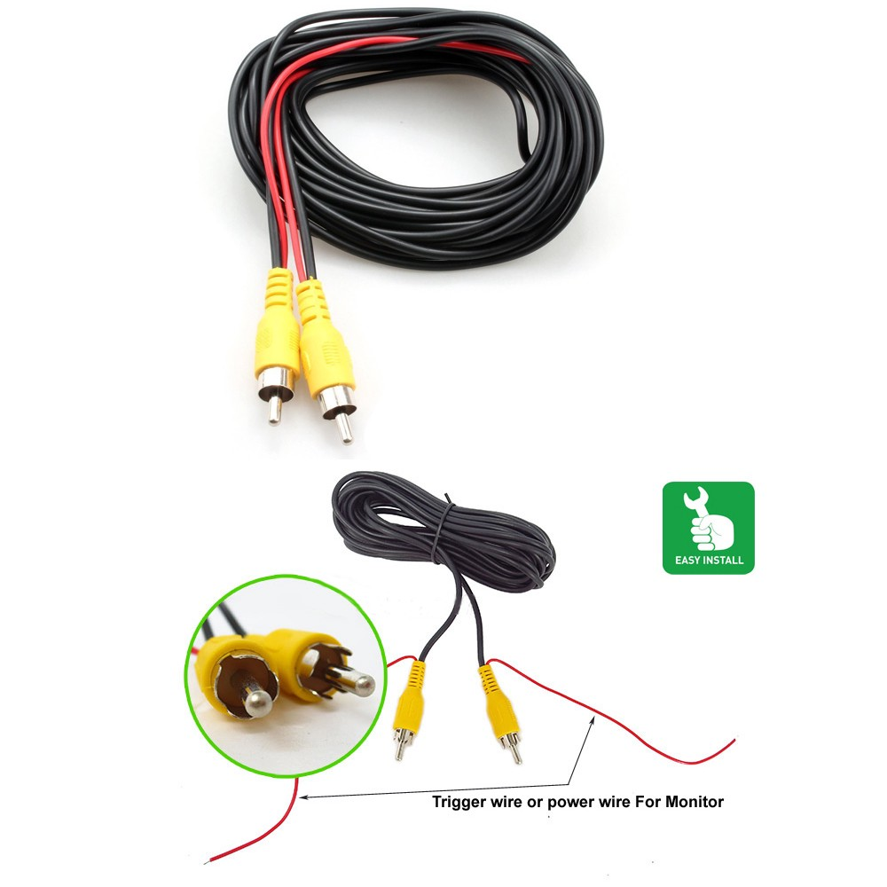 2017 New Universal auto RCA AV Cable wire harness for car ... How To Make A Wiring Harness For Car on