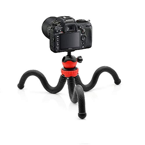 Yantralay School Of Gadgets 360 ° Rotatable Ball Head Flexible Gorillapod Tripod with Mobile Attachment for DSLR, Action Cameras & Smartphone - Black