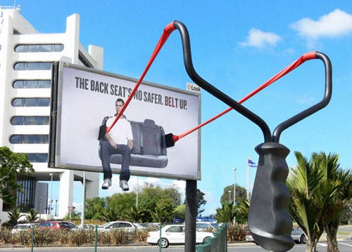 The back seat's no safer Billboard Advertisement