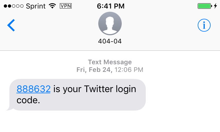 2FA codes received through SMS text messages