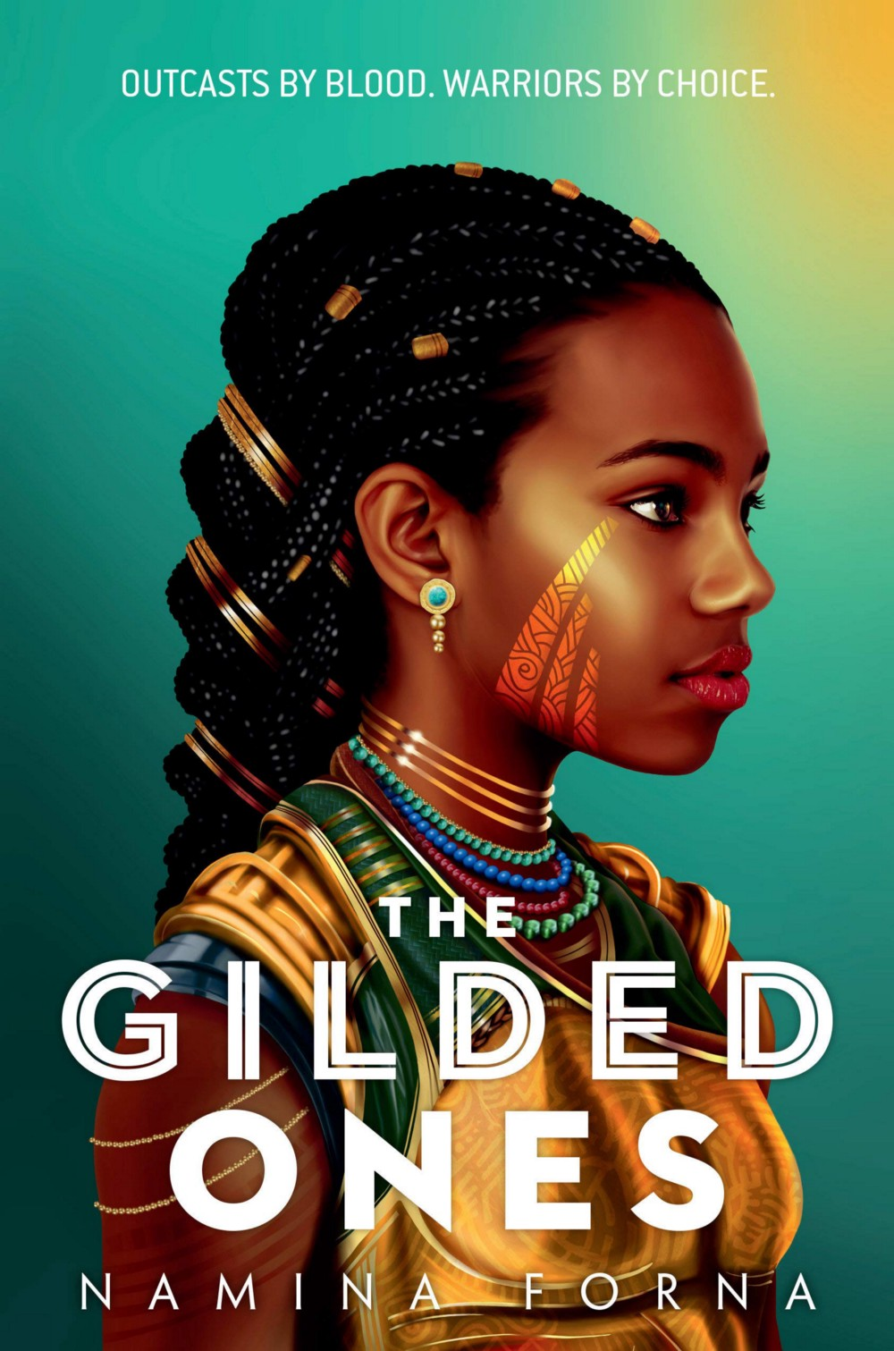 """The cover image for Namina Forna's book, """"The Gilded Ones"""""""