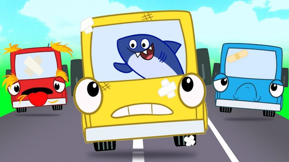 Five Little Buses Jumping On the Road! More Nursery Rhymes