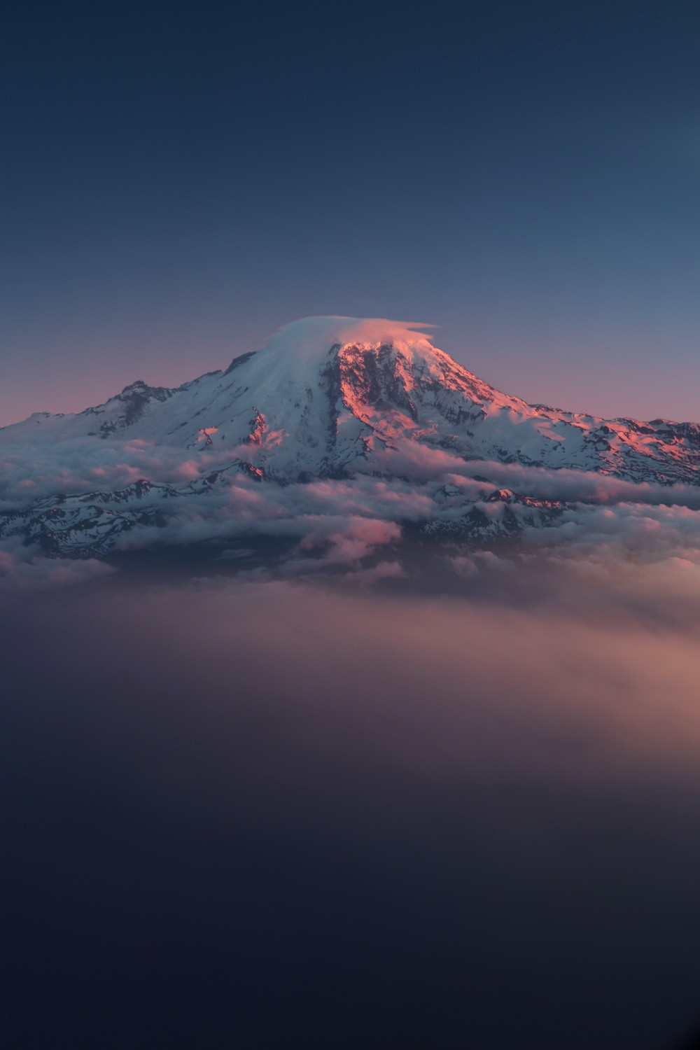 Mount Rainier, Wash. State, before the snow and ice melted.