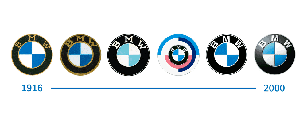 The History Of The Bmw Logo Design Evolution By Inkbot Design Medium