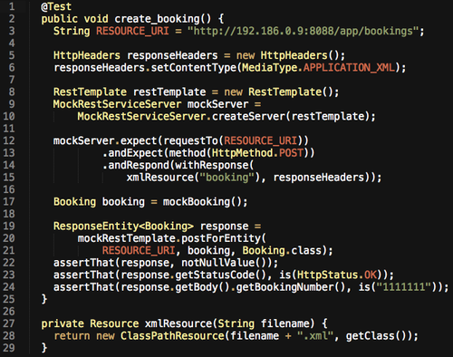 Testing with Spring RestTemplate - unbounded io