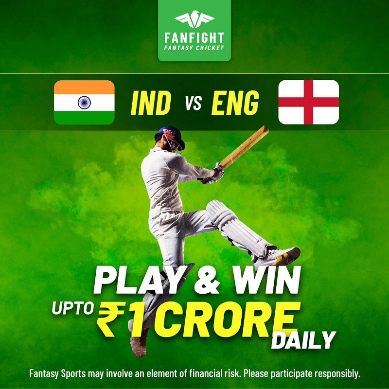 Play Fantasy Cricket India vs England Series 2021 on FanFight and Win Cash upto 1 Crores Daily
