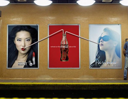 Refresh on the Coca Cola side of life 2 Billboard Advertisement