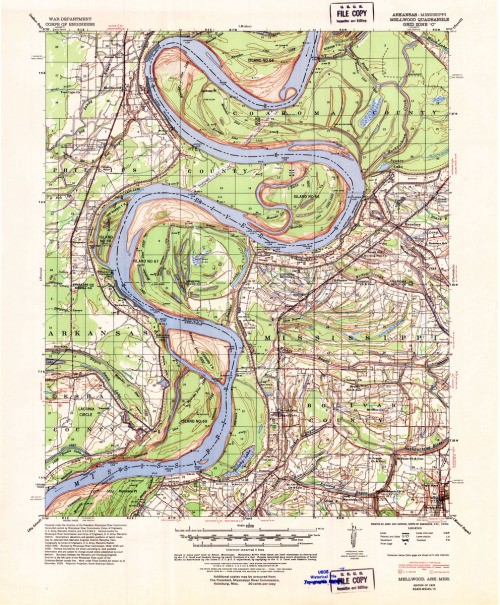 Color corrected and repaird USGS Arkansas TOPO map prints:…