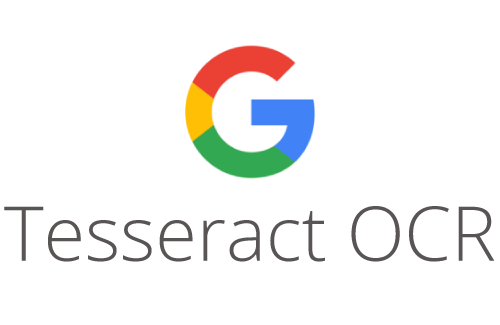 Logo for Google's Tesseract OCR software. Font: Wikipedia.