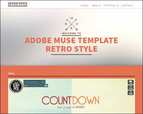 Free and Premium Responsive Adobe Muse Templates - 56 pixels