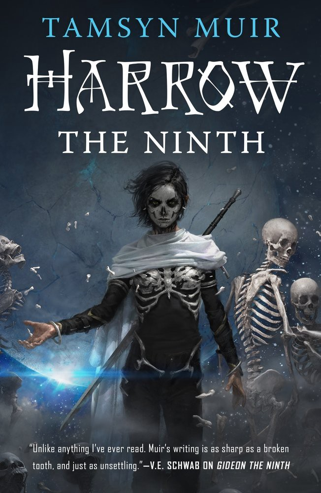 The cover of Tamsyn Muir's fantasy duology, Gideon and Harrow the Ninth