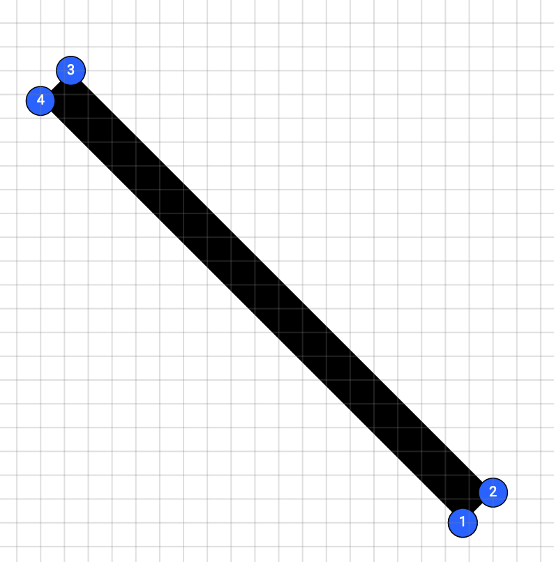 Square line with dots