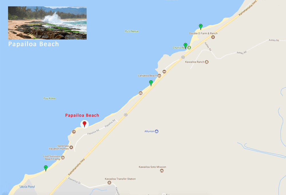Papailoa Beach Map and Directions - Anthony Calleja ...